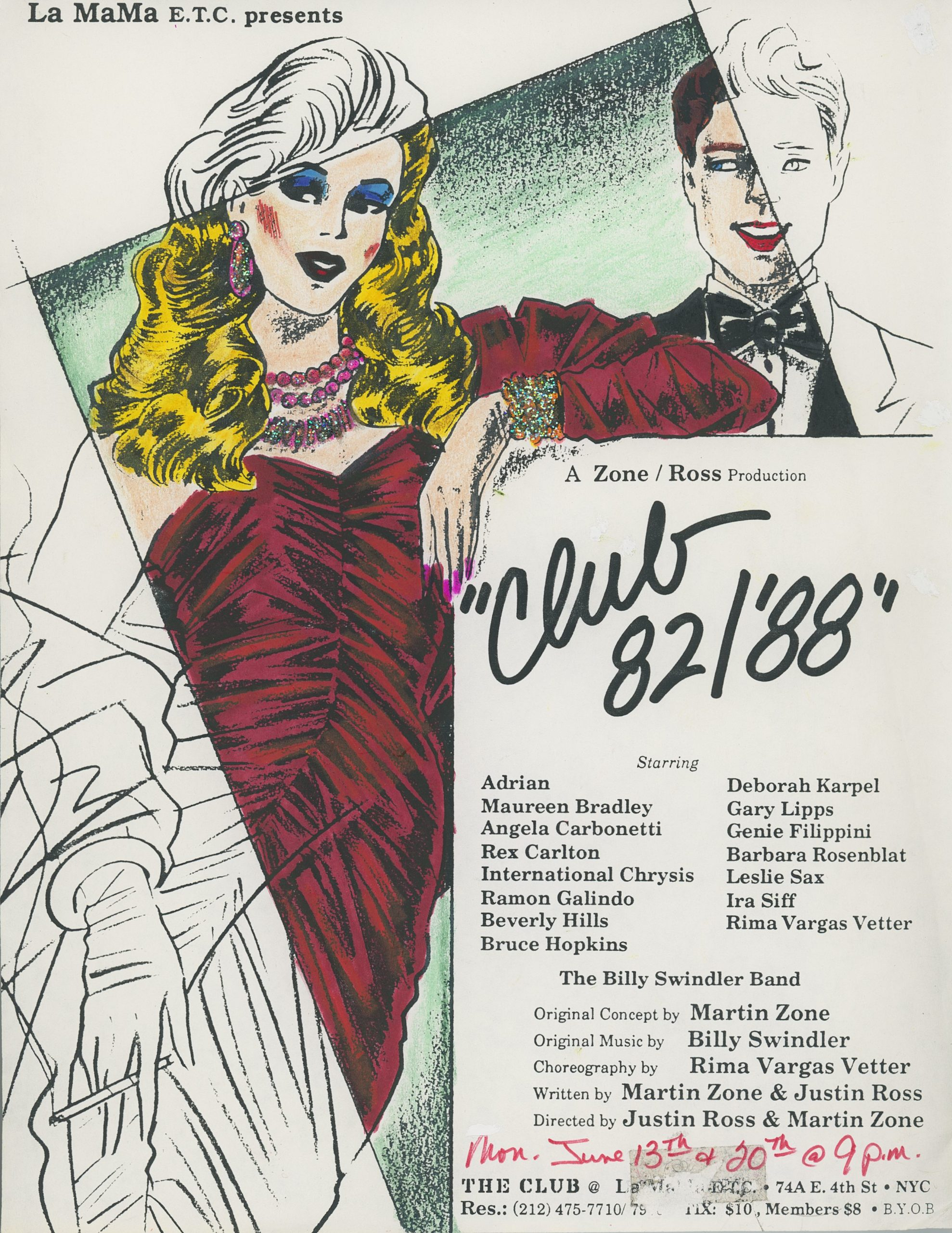 Flyer for Club82/'88